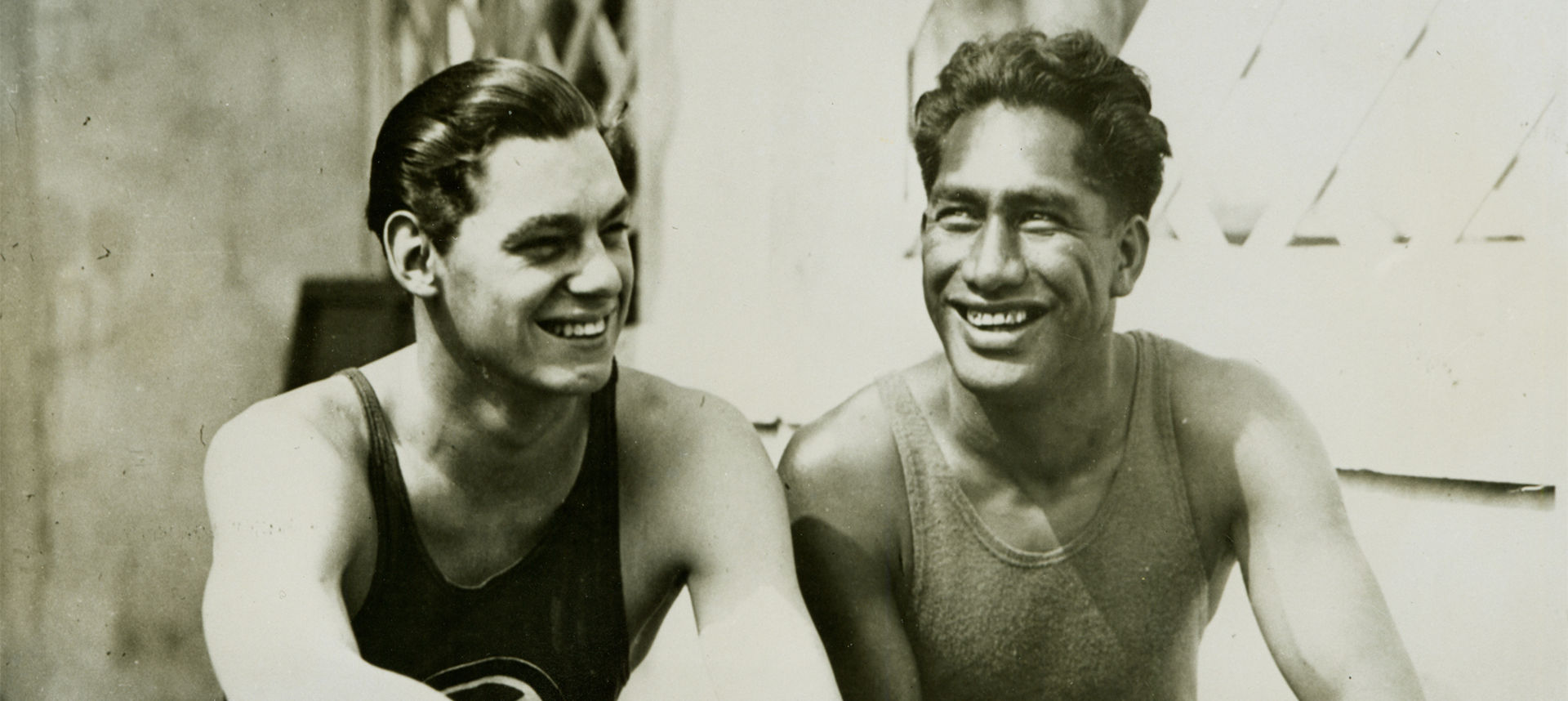 Duke Kahanamoku and friend