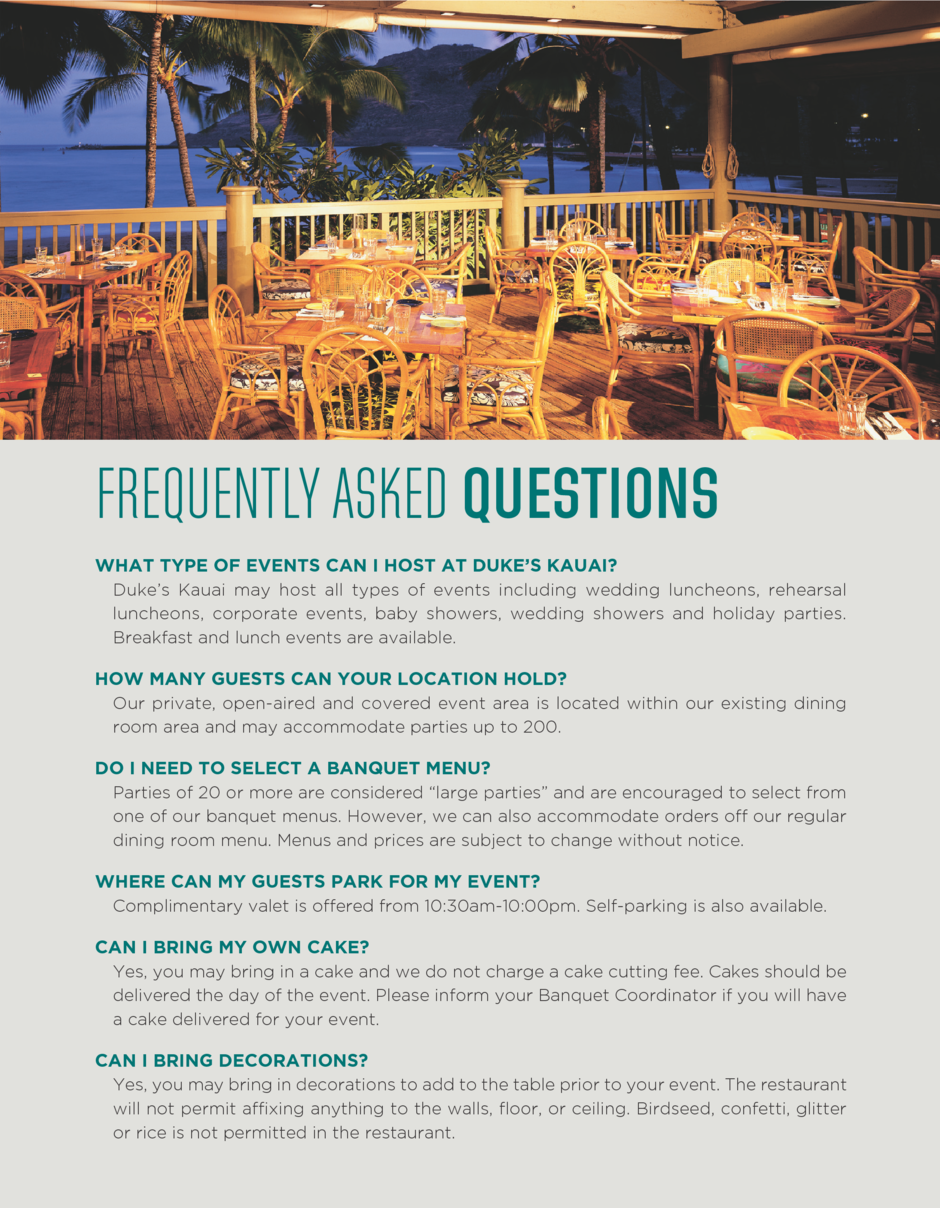 Frequently Asked Questions for events