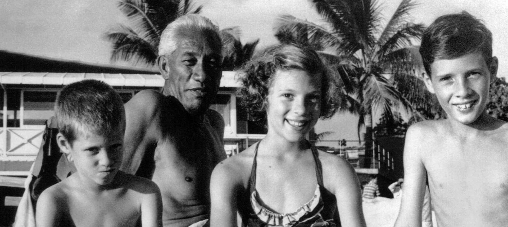 Duke Kahanamoku and his family