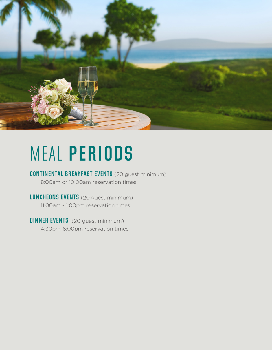Meal Periods for Events